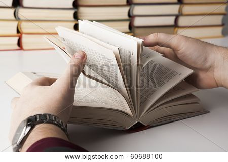Man Holding An Open Book 2