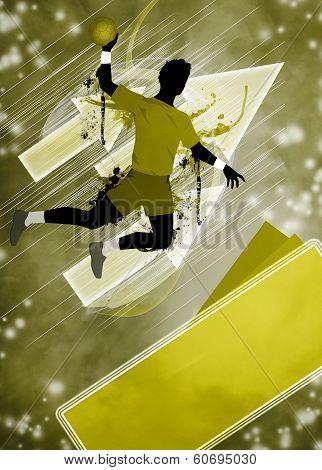 Handball Man Background