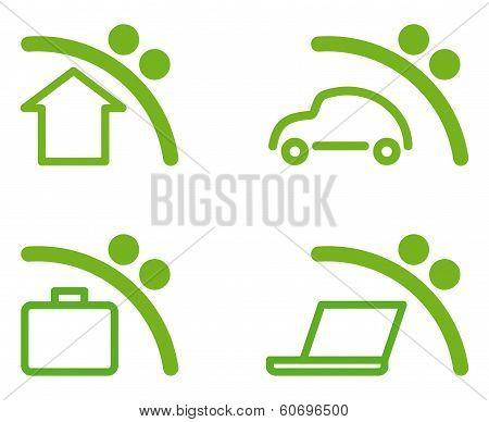 Savings symbols