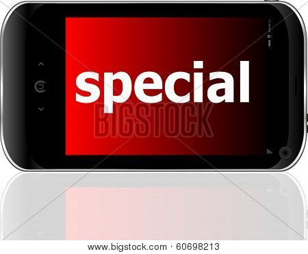 Smart Phone With Special Word, Business Concept
