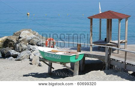 Lifeguard boat and station