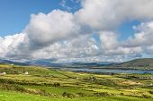 picture of ireland  - Scenic pasture landscape on Valentia Iceland County Kerry Ireland - JPG