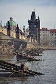 picture of erection  - Charles Bridge in Prague