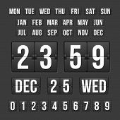 stock photo of countdown timer  - Vector Countdown Timer and Date - JPG