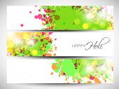 Beautiful header or banner set design with colours splash.