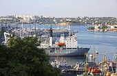 Russian Navy Warships At The Bay Of Sevastopol, Crimea, Ukraine