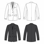 stock photo of blazer  - Blank men - JPG