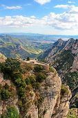 Beautiful Mountain Near Montserrat Monastery In Catalonia, Spain