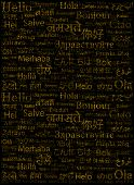 foto of glossary  - The word Hello written with the different world languages over white background - JPG
