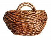 yellow basket isolated on white background