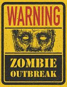 stock photo of madman  - Poster Zombie Outbreak - JPG