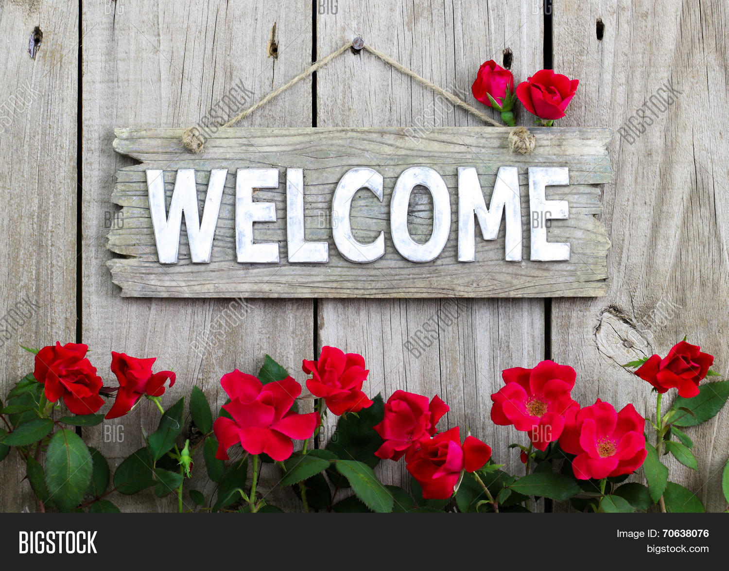 Welcome pictures with roses