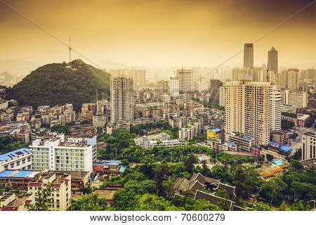 Guiyang, China downtown cityscape.