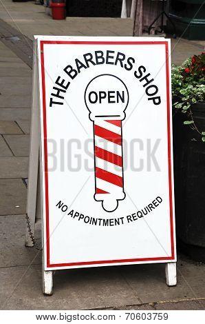 Barbers shop sign, Leominster.