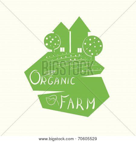Illustration of an organic farm