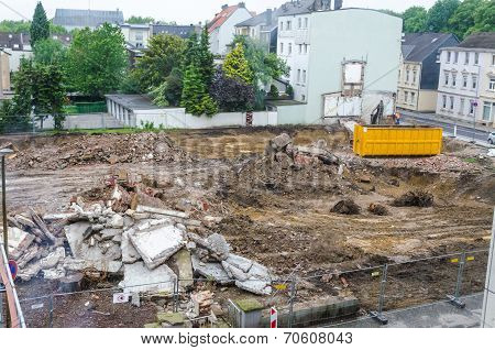 Demolition, Pile Of Rubble, Construction Site
