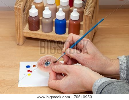 Coloring Artificial Silicone Human Eye