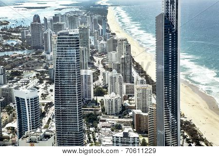 Gold Coast cityscape view from Q1 building