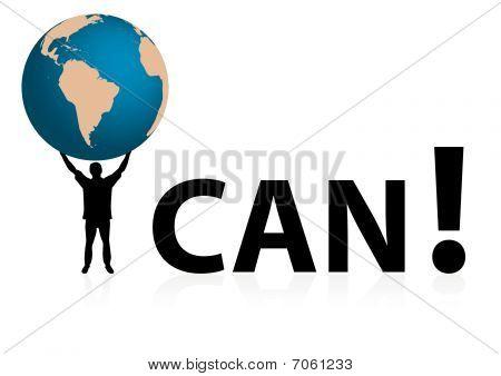 "Conceptual ""I CAN"" illustration"