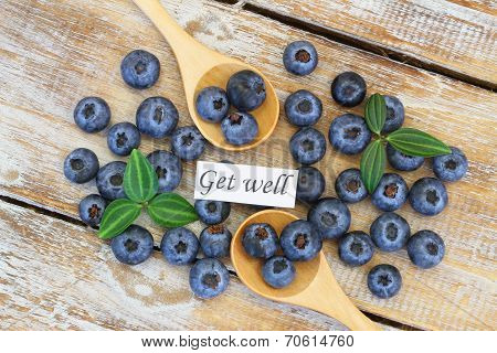 Get well card with blueberries