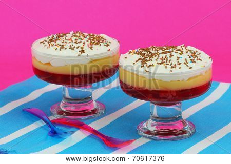 Strawberry trifle desserts