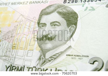Mimar Ahmet Kemaleddin Bey on Turkish Banknote