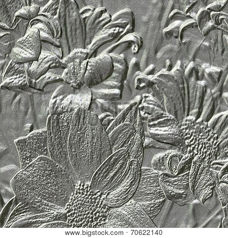 Flower Metal Relief Generated Texture
