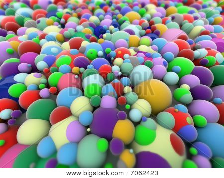 Background, colorful plastic balls on children's playground