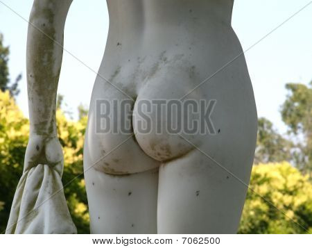 Back side of Afrodita - greek stone statue