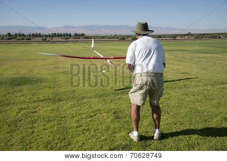 Landing RC Glider