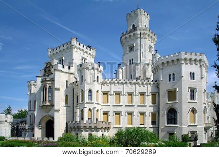 Hluboka castle, beautiful landmark in Czech Republic