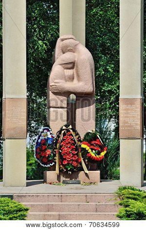 KALININGRAD, RUSSIA - July 6, 2014: Monument To The Victims Of Armed Conflicts. Kaliningrad, Russia