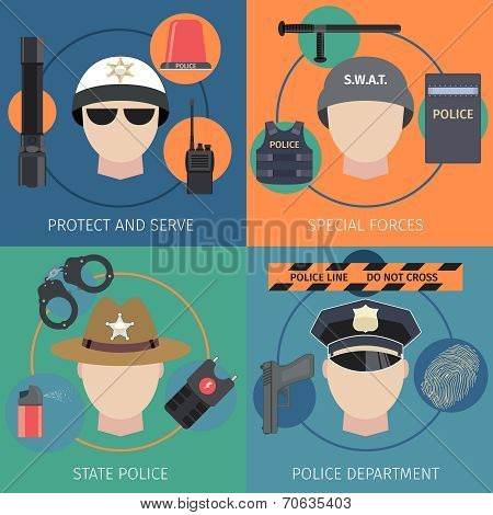 Police flat set