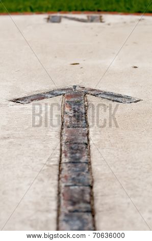 Brick Paver North Arrow Compass