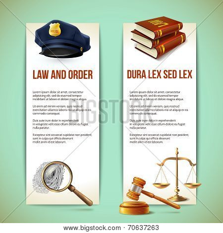 Law vertical banners
