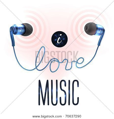 Headphones with love letters