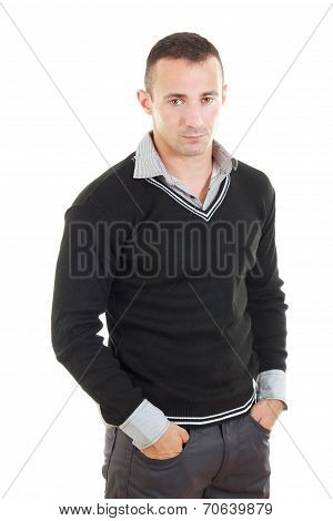 Elegant Fashionable Young Handsome Man Portrait