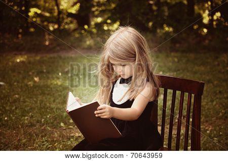 Smart Child Reading Education Book Outside