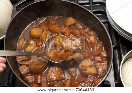 Delicious Beef Stew In A Pot