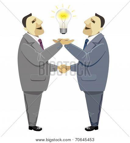 Businessmen Handshake In Business Deal