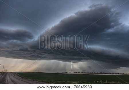 Severe storm over the plains