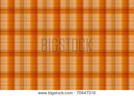 Tartan Orange Pattern - Plaid Clothing Table