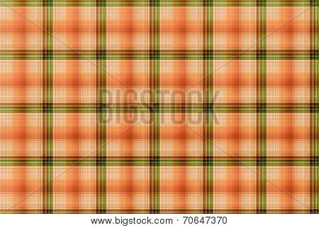 Tartan Orange And Green Pattern - Plaid Clothing Table