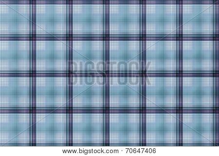 Tartan Blue Pattern - Plaid Clothing Table