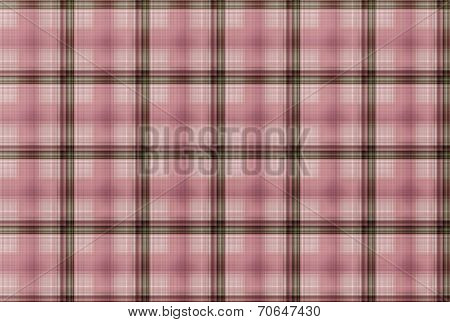 Tartan Pink Pattern - Plaid Clothing Table