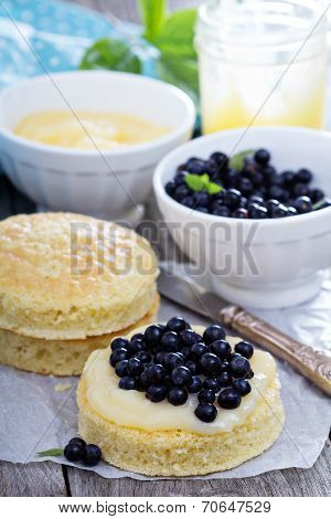 Making a cake, sponge layers, frosting and berries