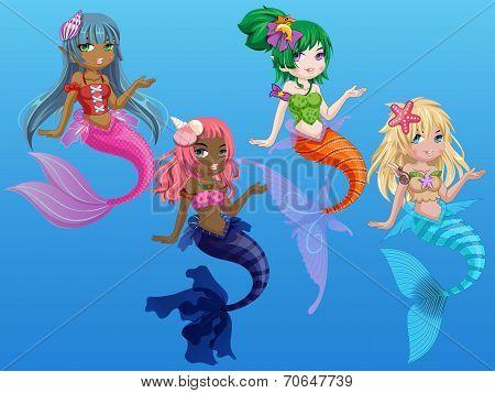 Cute Mermaids Dress up 2
