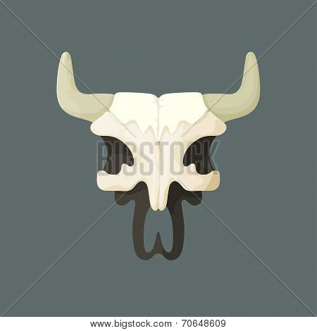 Vector illustration of bull skull from Wild West