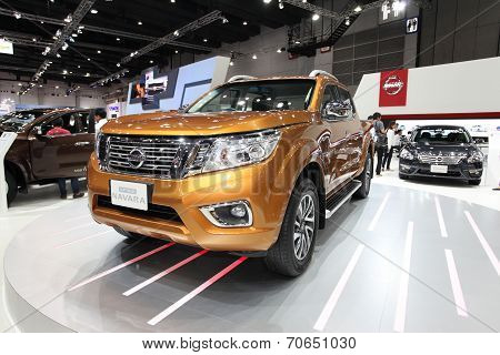 Bangkok - August 19: Nissan Navara Np300 Car On Display At Big Motor Sale On August, 2014 In Bangkok