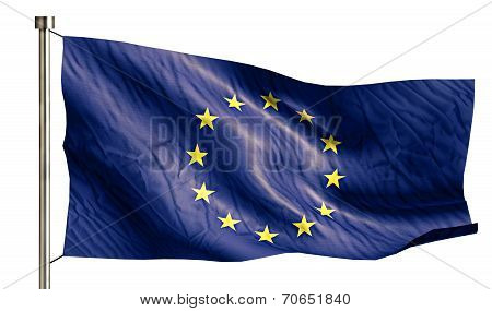 Europe National Flag Isolated 3D White Background
